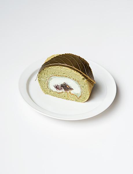 若草ロール(ヨモギ&餡子)